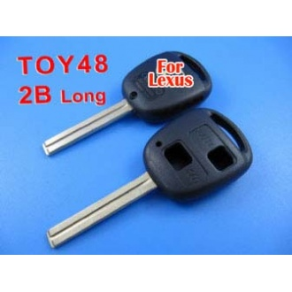 Lexus remote key shell 2 button TOY48 (long)