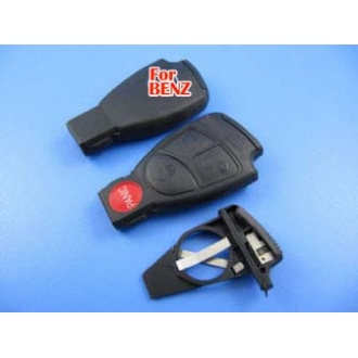 Benz smart key shell 4-button with the plastic board
