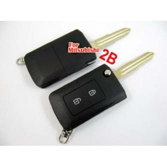 Mitisubishi modified flip remote key shel 2 button
