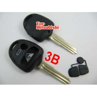 Mitsubishi remote key shell 3 button (right side)