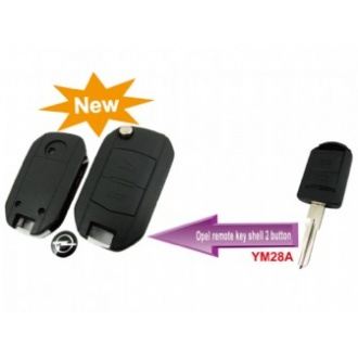 Opel modified flip remote key shell 2 button (YM28)