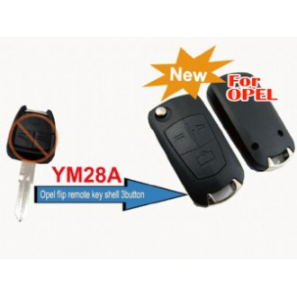 Opel modified filp remote key shell 3 button (YM28)