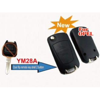 Opel modified filp remote key shell 2 button (YM28)