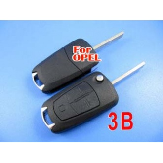 Opel flip remote key shell 3 button