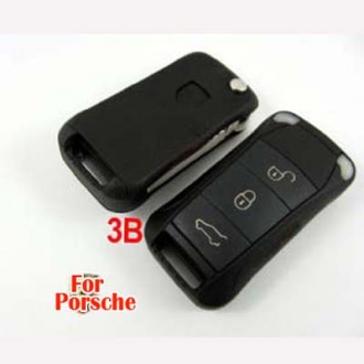 Porsche flip remote key shell 3 button
