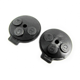 Benz smart button rubber 3 button