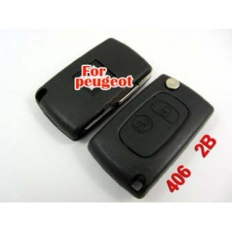 Peugeot 406 flip remote key shell 2 buttton