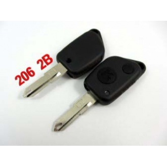 Peugeot 206 remote shell 2 button