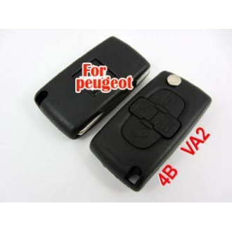 Peugeot flip remote key shell 4 buttton