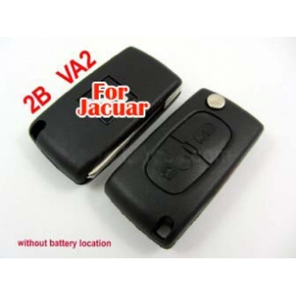 Peugeot flip remote key shell 2 button (without battery location)