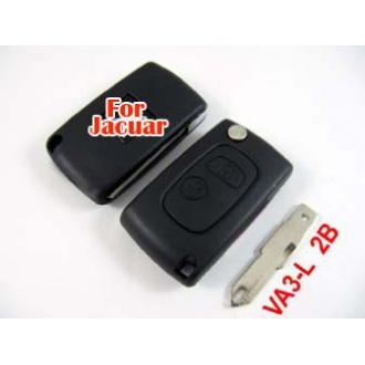 Peugeot modified flip remote key shell 2 button VA3L