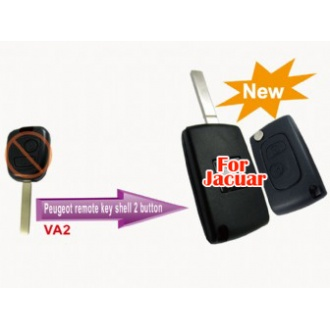 Peugeot modified flip remote key shell 2 button VA2