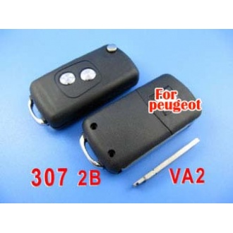 peugeot remote key shell 2 button ( 307 without groove)