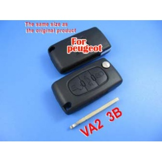 peugeot remote key shell 3 button (307 without groove)
