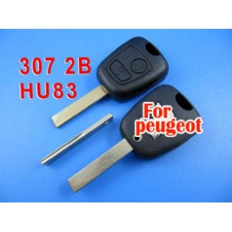 peugeot remote key shell 2 button (307 with groove)