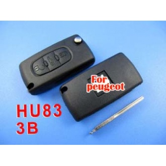 peugeot remote key 3 button mhz 433 (307 with groove)