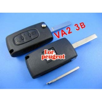 peugeot remote key 3 button mhz 433 (307 without groove)