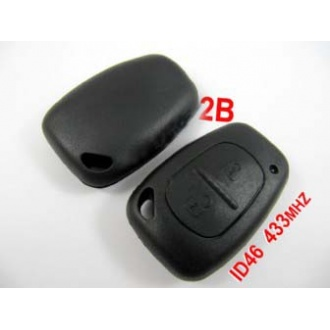 Renault remote 2 button 433MHZ with ID46