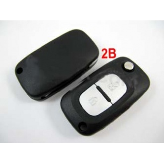 Renault remote flip key shell 2 button