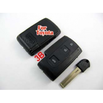Toyota Crown smart key shell 3 button-with the key blade