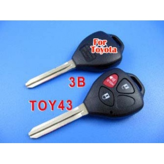 toyota camry remote key shell 3 button reversal-band red button