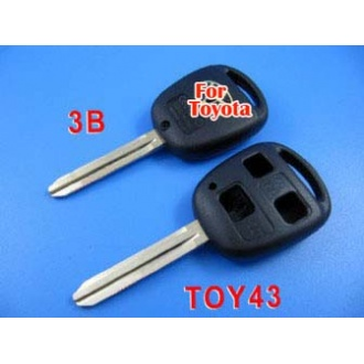 Toyota key shell 3 button Toy43
