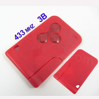 Renault Megane smart key (red color) 433MHZ
