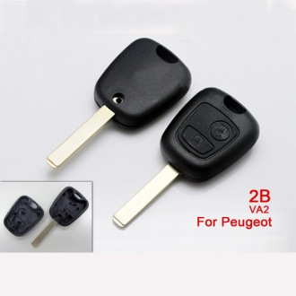 peugeot remote key shell 2 button VA2 (without logo)