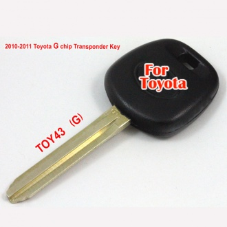 2010-2011Toyota G chip transponder key