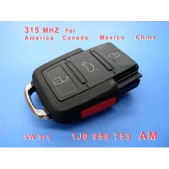 VW 3+1 Remote 1 JO 959 753 AM 315Mhz For America Canada Mexico China