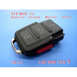 VW 3+1 Remote 1 JO 959 753 T 315Mhz For America Canada Mexico China