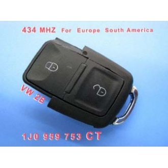 VW 2B Remote 1 JO 959 753 CT 434Mhz For Europe South America