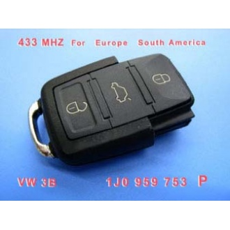VW 3B Remote 1 JO 959 753 P 433Mhz For Europe South America