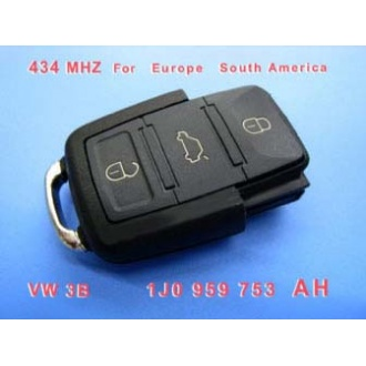 VW 3B Remote 1 JO 959 753 AH 434Mhz For Europe South America