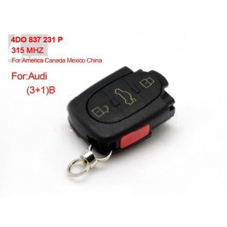 AUDI 3+1 Remote 4DO 837 231 P 315Mhz For America Canada Mexico China