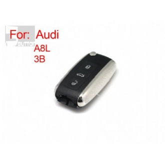 Audi A8L modified flip remote key shell 3 button(MOQ 10pcs)