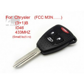 Chrysler remote key 3+1 button ID 46 433MHZ FCC M3N (Small button)