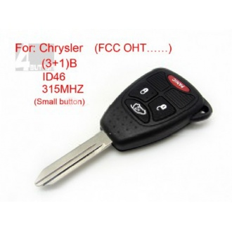 Chrysler remote key 3+1 button ID 46 315MHZ FCC OHT (Small button)