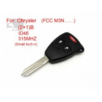 Chrysler remote key 2+1 button ID 46 315MHZ FCC M3N (Small button)