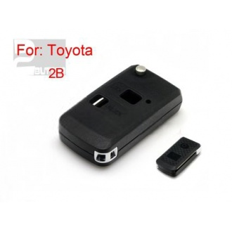 toyota flip remote key shell 2 button(MOQ 5pcs)