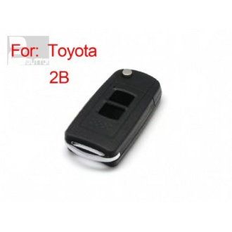 toyota highlander yaris flip remote key shell 2 button(MOQ 5pcs)