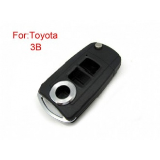 toyota highlander yaris camry flip remote key shell 3 button(MOQ 5pcs)