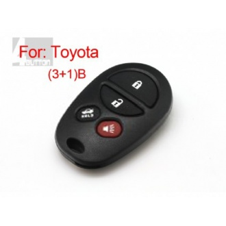 Toyota remote shell 3+1 button