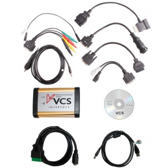 VCS Vehicle Communication Scanner Interface with all connectors