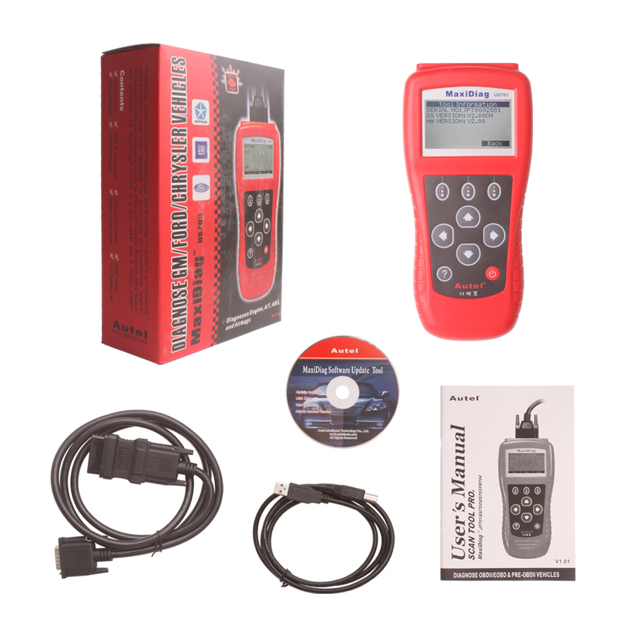 autel maxiscan us703 usa vehicle obdii eobd code reader