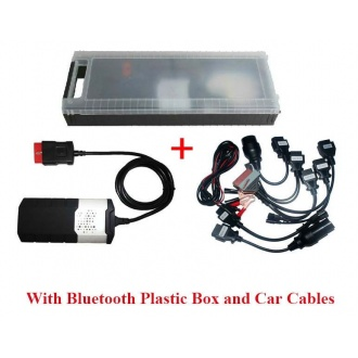 Car and Truck OBD2 CDP DS150 professional Diagnostic tools With bluetooth and Plastic Box Plus Car Cables