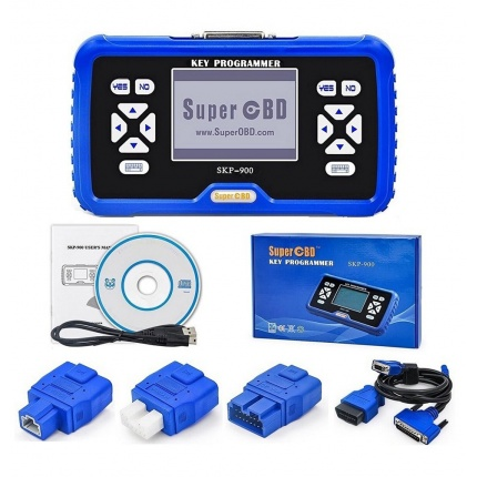 Original SuperOBD SKP900 key programmer V5.0 OBD2 Car Auto Key Programmer Support Almost All Cars No Tokens Limited Free