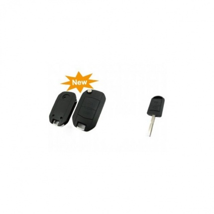 Modified Flip Remote Key Shell 2 Button (HU43) for Opel 5pcs/lot
