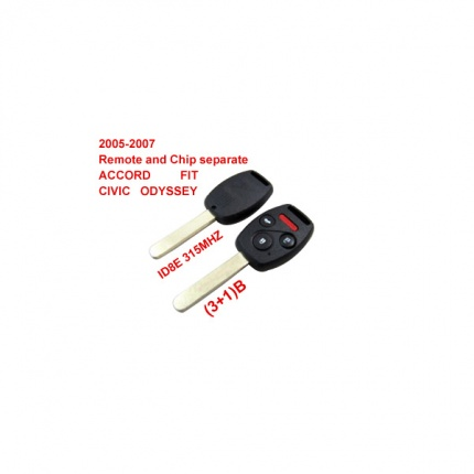 2005-2007 Remote Key (3+1) Button And Chip Separate ID:8E ( 315 MHZ ) for Honda
