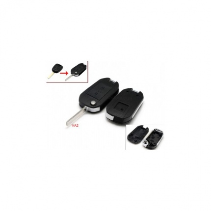 Modified Flip Remote Key Shell 2 Button VA2 for Citroen 5pcs/lot